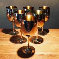 Kit 6 Champagnes glazen Moet & Chandon + 1 koeler voor magnumfles