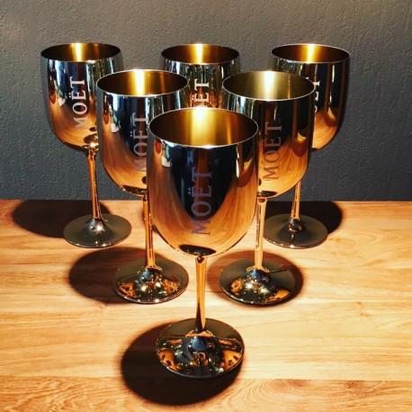 Kit 6 coupes à Champagne Moet & Chandon + 1 refroidisseur à bouteille Magnum