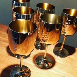 Kit 6 Champagne glasses Moet & Chandon + 1 cooler for Magnum bottle