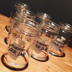 Glass Jar Amaretto Sour