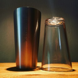 Shaker Bacardi inox+glas