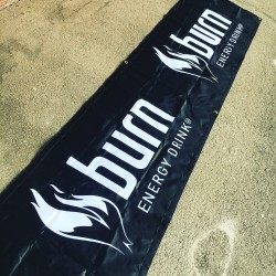 Banner Burn Energy Drink