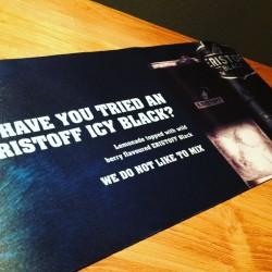 Tapis de bar Eristoff Black