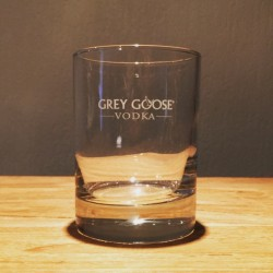 Glas Grey Goose on the rocks 3D