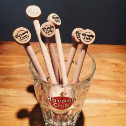 Roerstokje Havana Club houten  x6