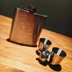 Kit Jack Daniel's flasque + shooters inox