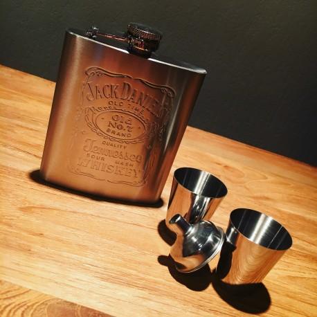 Kit Jack Daniel's flasque + shooters inox