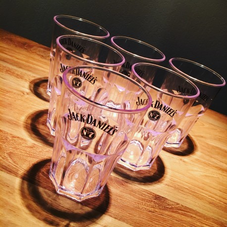 Set van 6 glazen Jack Daniel's PVC
