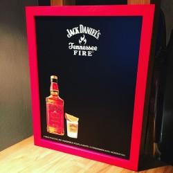 Chalkboard Jack Daniel's Fire