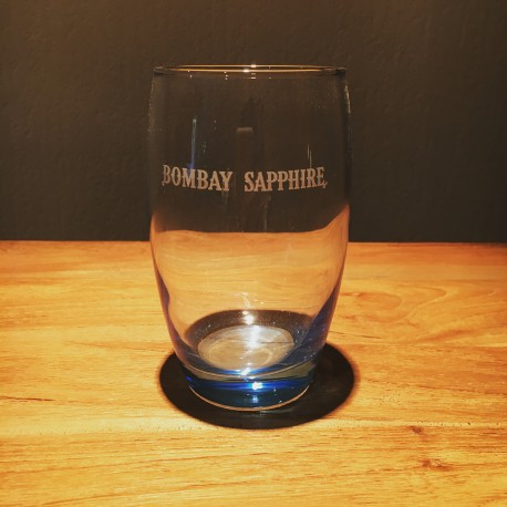 Glass Bombay Sapphire curved