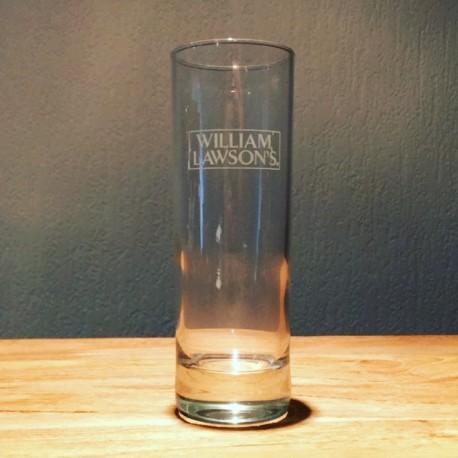 Verre William Lawson's long drink 22cl logo blanc