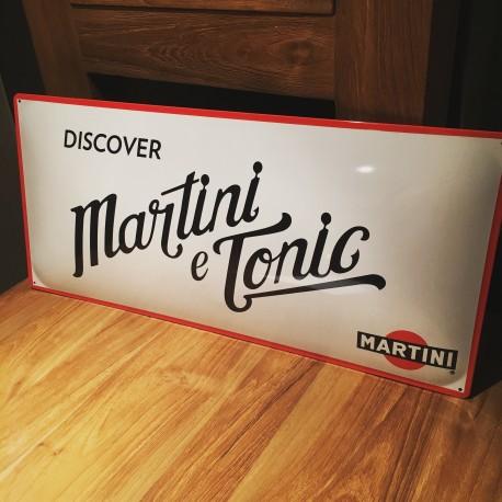 Plaque Martini & Tonic émaillée
