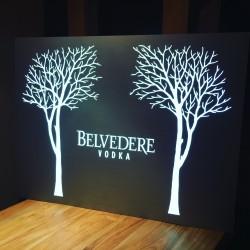 Lichtreclame Belvedere vodka LED