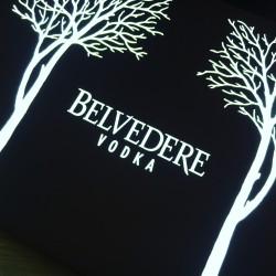 Enseigne lumineuse Belvedere vodka LED