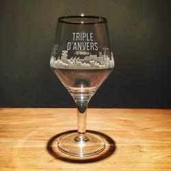 Glas bier Triple d'Anvers model tulipe
