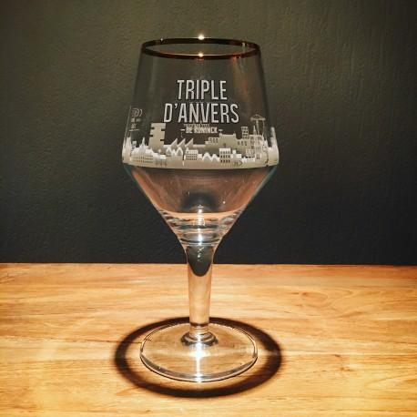 Verre bière Triple d'Anvers modèle tulipe