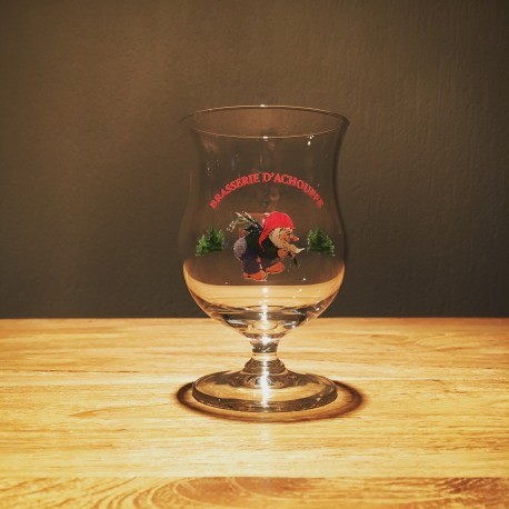Glass Beer Chouffe tasting glass old ( galopin )