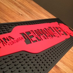Tapis de bar Desperados red