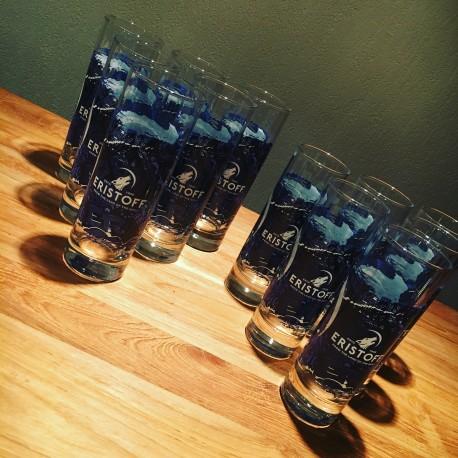 Set 12 Eristoff glasses long drink 22cl + 32cl