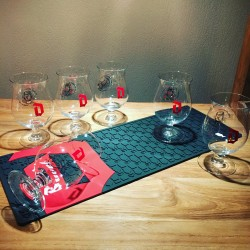 Set Duvel deluxe barmat 2018 + 6 glasses