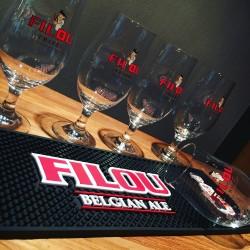 Kit tapis de bar + 6 verres Filou