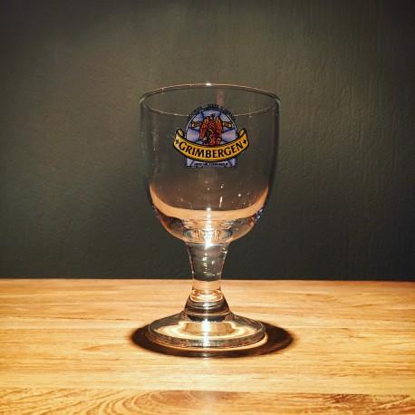 Glass beer Grimbergen logo bleu – tasting glass (galopin)