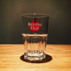 Glass Havana Club italic writing