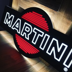 Illuminated Sign LED Martini