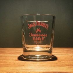 Glass Jack Daniel's Fire on the rocks