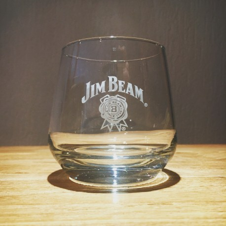 Glass Jim Beam tumbler