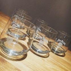 Glass Jim Beam tumbler