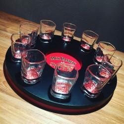 Mètre rond pour shooters Jack Daniel's Fire + 10 shooters