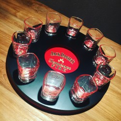 Round meter for Jack Daniel's Fire shooters