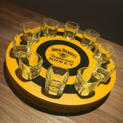 Round Meter Jack Daniel's Honey + 10 glazen
