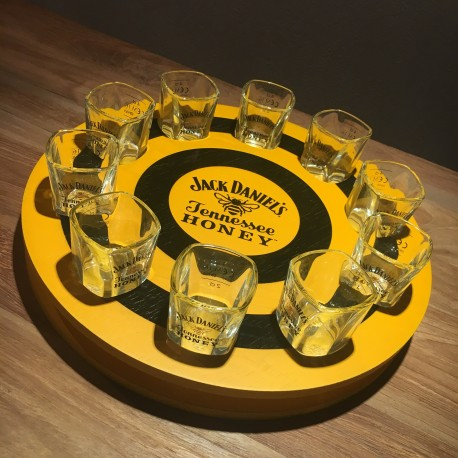 Round Meter Jack Daniel's Honey + 10 glasses
