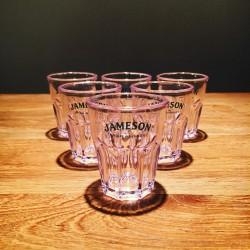 Glass Jameson shooter PVC x6