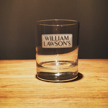Verre William Lawson's On The Rocks logo blanc