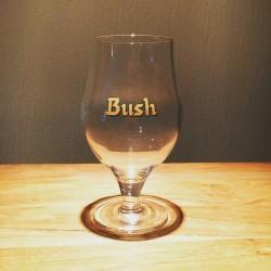 Bierglas Bush Beer bruine logo