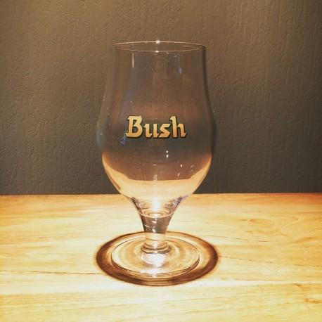 Verre bière Bush Beer logo brun