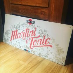 Plaque métallique Martini & Tonic
