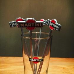 Mélangeur Touilleur Martini vintage gris x6