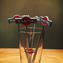 Swizzle Stick Martini gray vintage x6