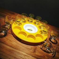 Ronde meter Ricard + 10 glazen