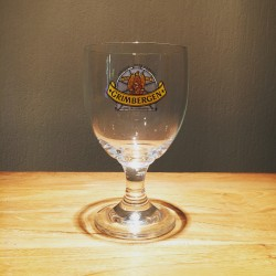 Glass beer Grimbergen 33cl blue logo