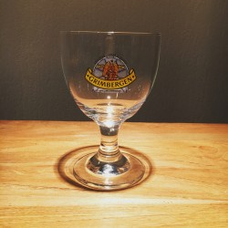 Glass beer Grimbergen 25cl blue logo