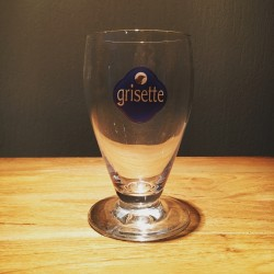 Verre bière Grisette logo bleu