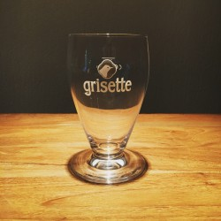 Glass beer Grisette white logo