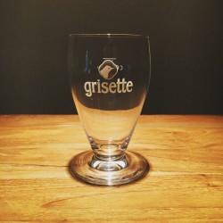 Verre bière Grisette logo blanc