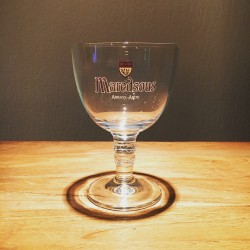 Glass beer Maredsous 25cl model calice