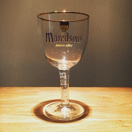 Glass beer Maredsous 33cl (stemware - high-stemmed)